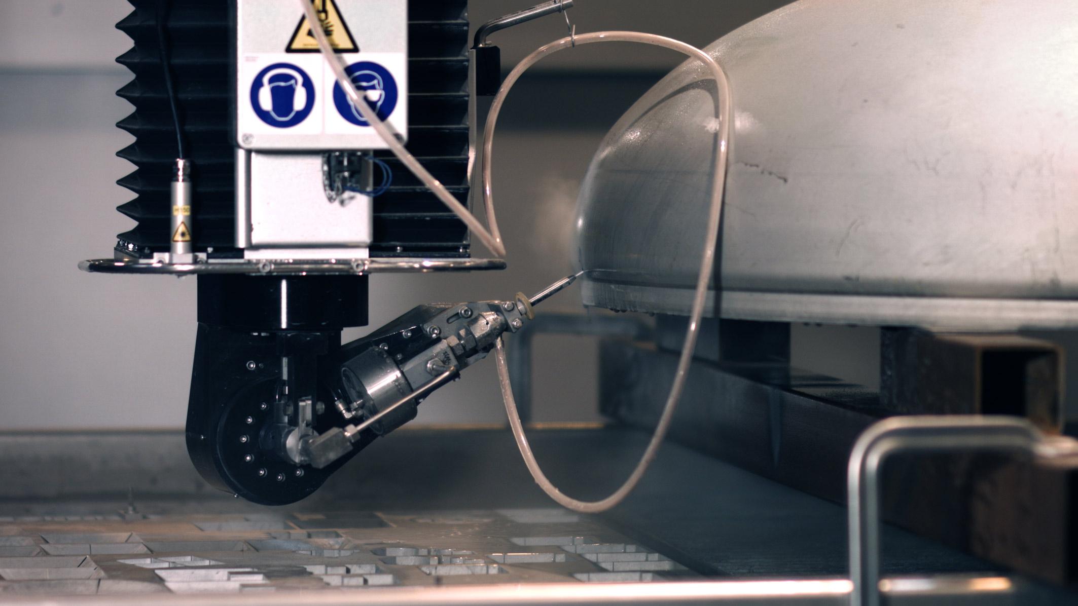 Redefining full 3D abrasive waterjet cutting - Water Jet Sweden